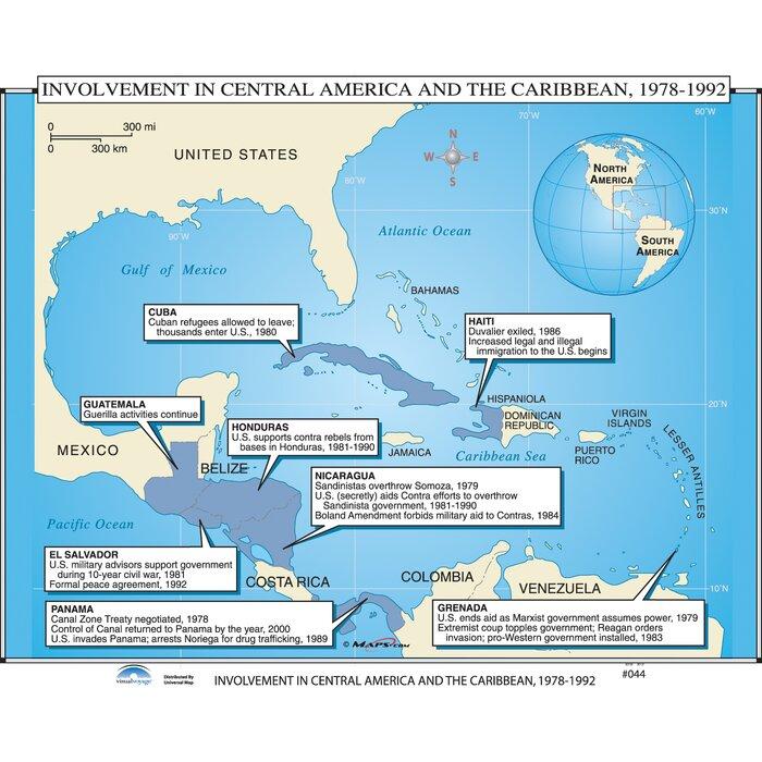 Universal Map U.S. History Wall Maps - U.S. Intervention in Latin ...