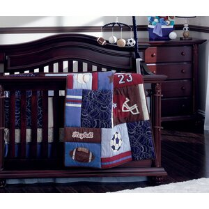 Play Ball Traditional 4 Piece Padded Crib Bumper