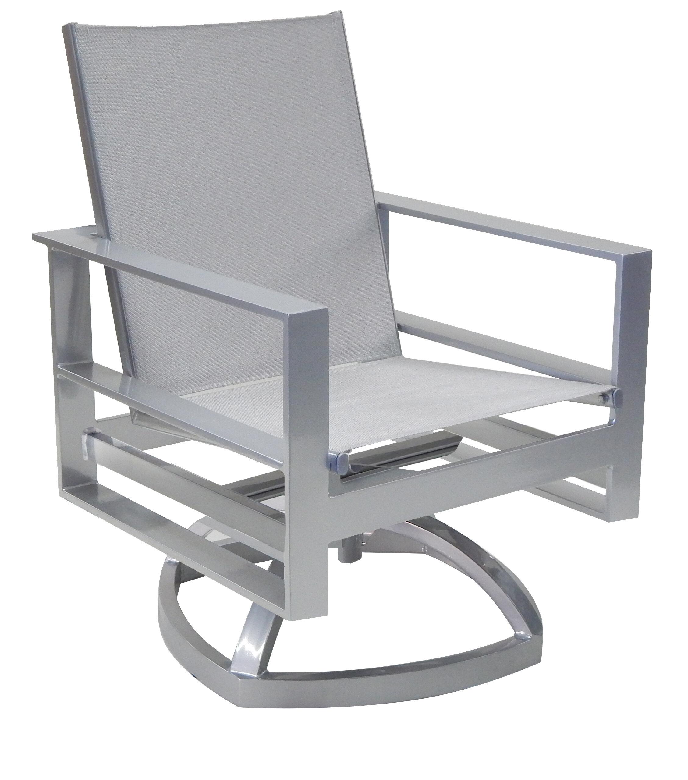Leona Horizons Sling Swivel Rocking Chair Reviews Wayfair