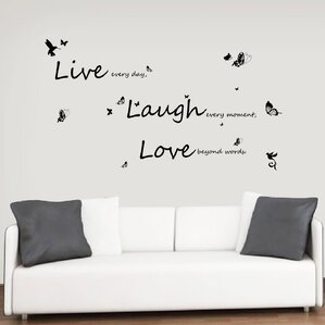 Good Vivid Live Laugh Love Wall Decal Part 32