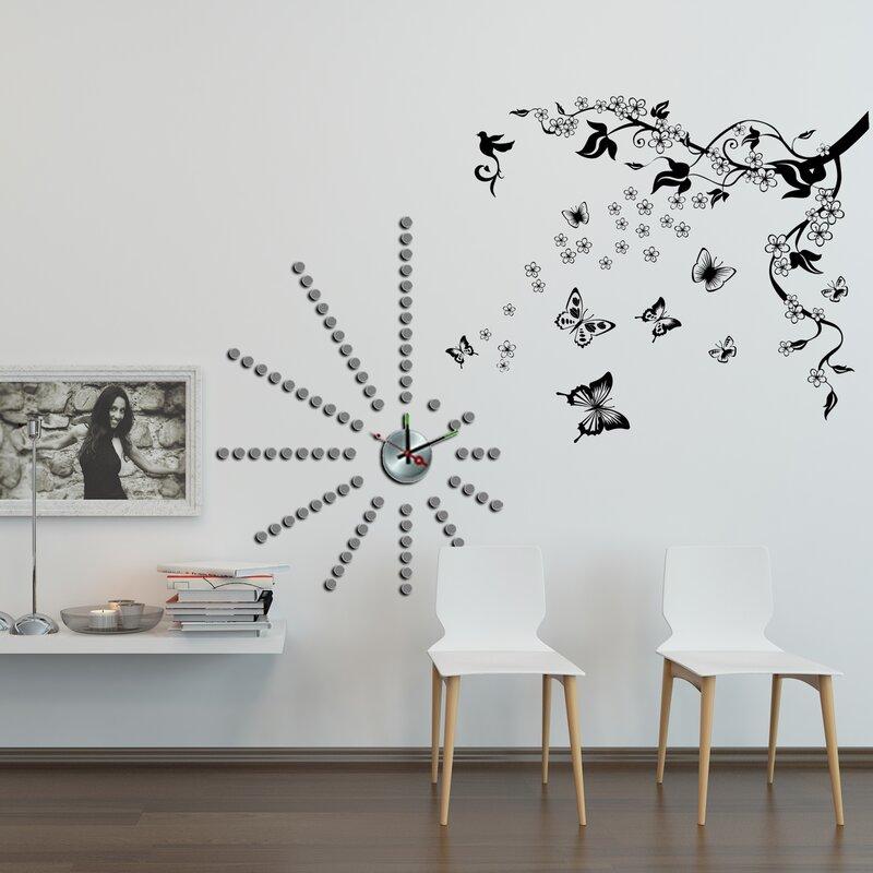 east urban home wandtattoo schmetterlinge kletterpflanze. Black Bedroom Furniture Sets. Home Design Ideas