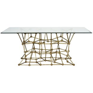 Iron Dining Table with Glass Top