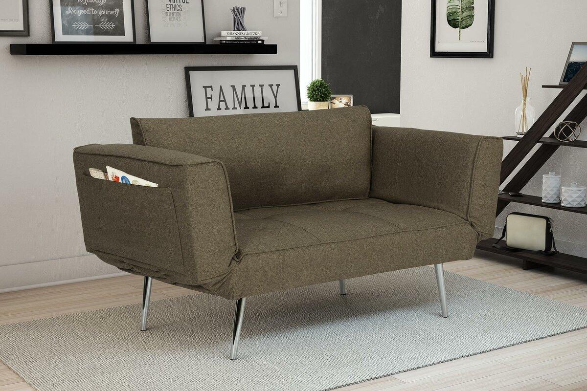 Novogratz euro convertible sofa reviews wayfair for Sofa 99 euro