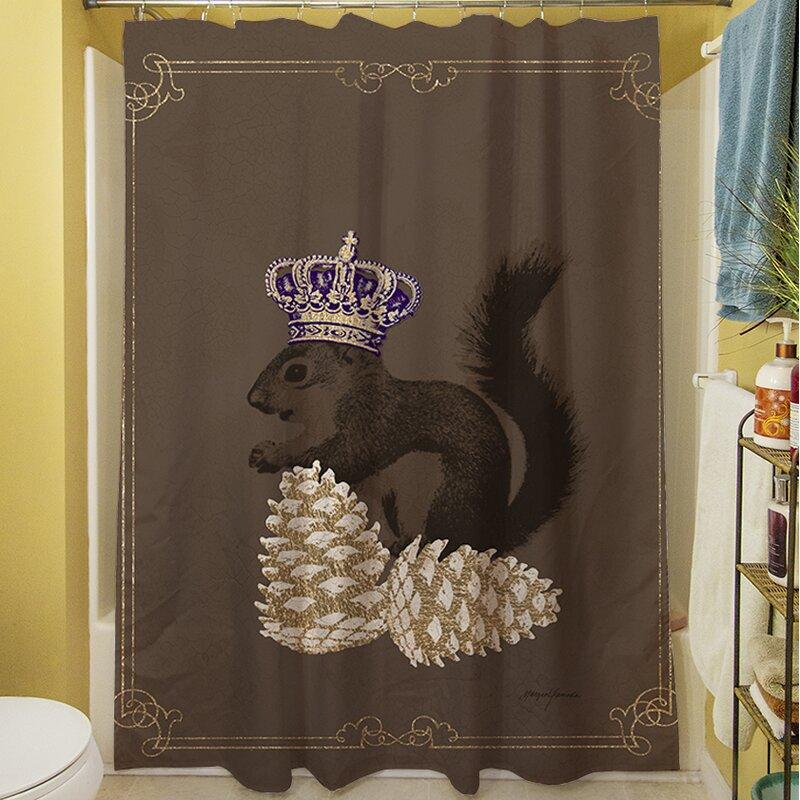 Luxury Lodge Squirrel Shower Curtain