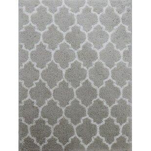 Check Prices Kareen Hand-Tufted Gray/White Area Rug ByLatitude Run