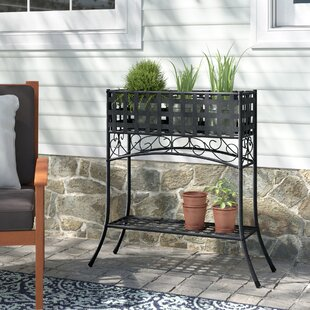 Beautiful European Style Garden Iron Double Deck Storage Rack Home Improvement