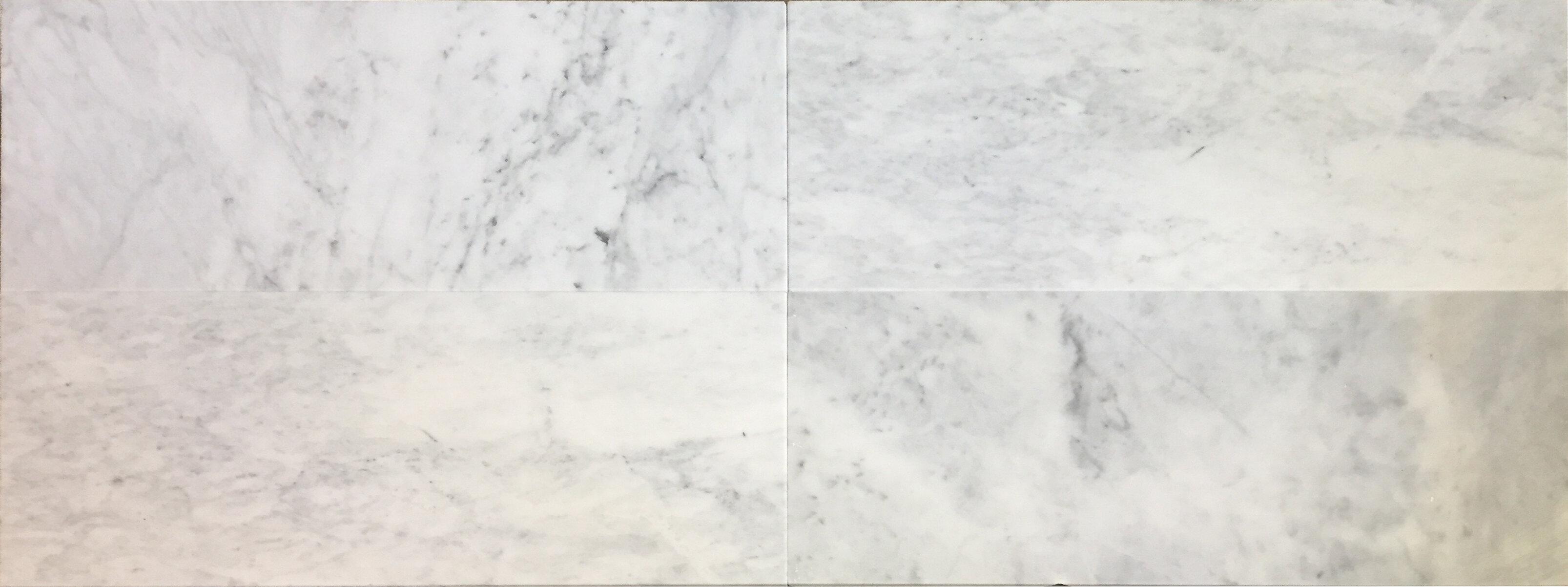 Bella Via 6 X 12 Carrara Marble Bullnose Field Tile In Whitegray