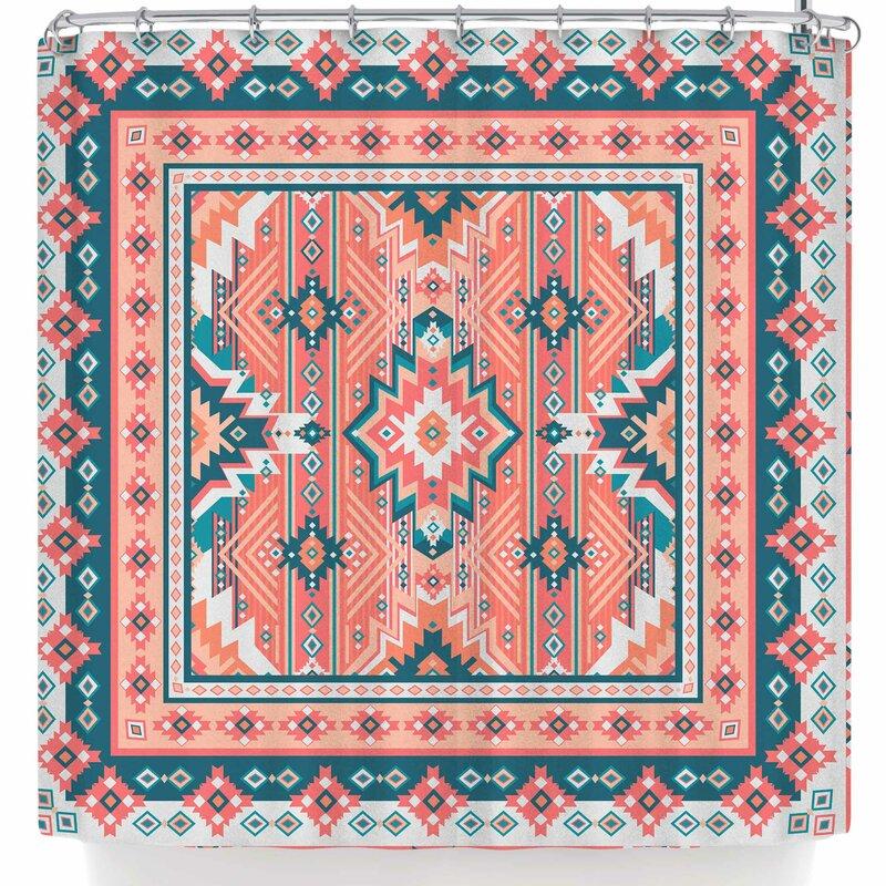 Nandita Singh Dreamy Aztec Shower Curtain
