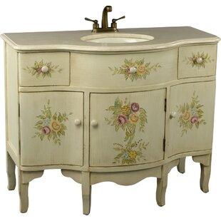 Monserrat 44 Single Painted Fl Style Bathroom Vanity Set