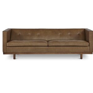 Von Leather Chesterfield Sofa by Passport Home