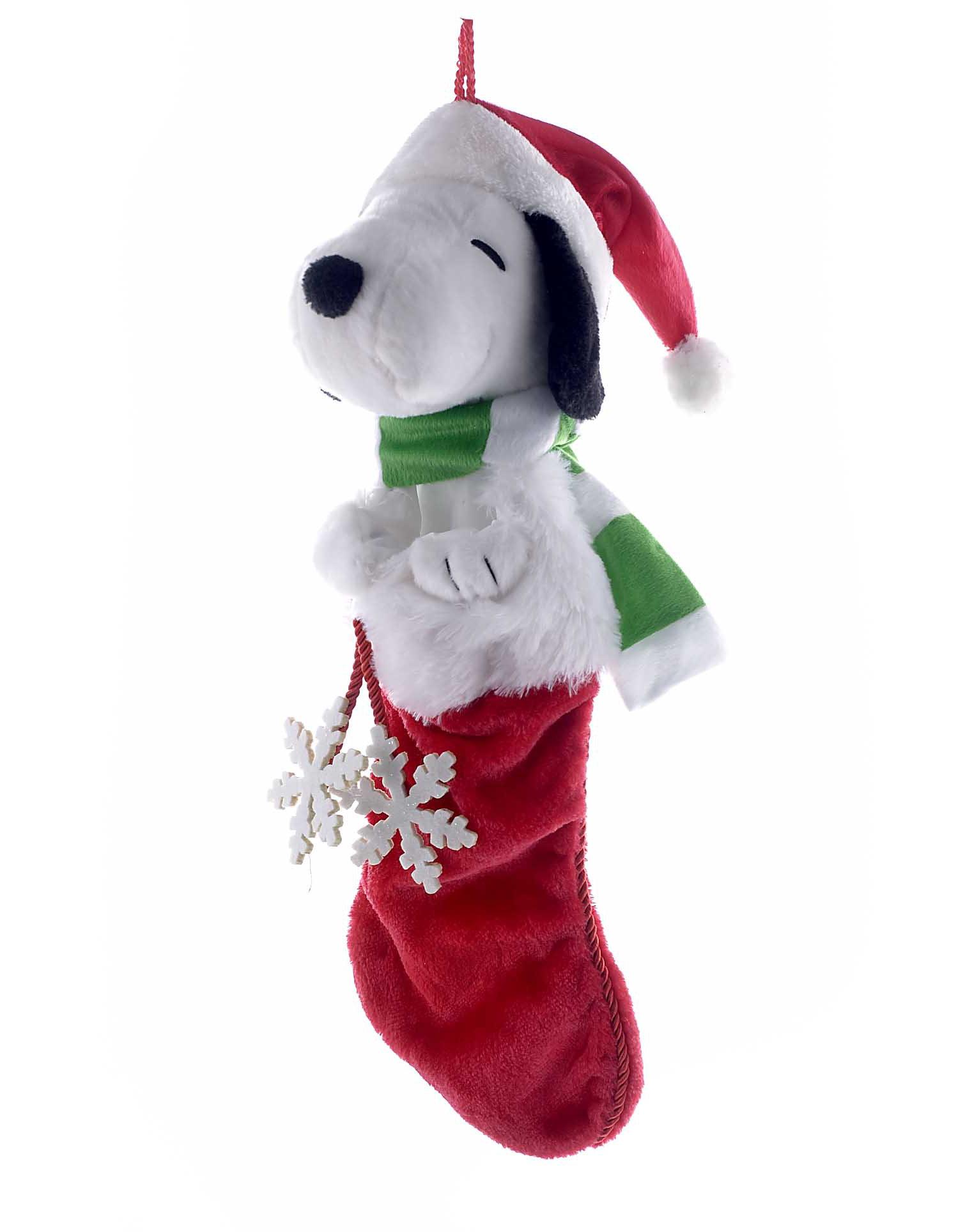 kurt adler snoopy plush head stocking wayfair - Snoopy Christmas Stocking