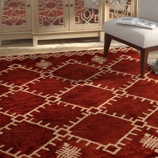 Pisano Cherrystone Red/White Area Rug By Bungalow Rose