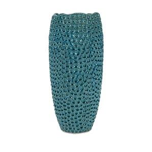 tall crater ceramic floor vase