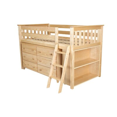 Twin Loft Bed With Dresser And Bookcase