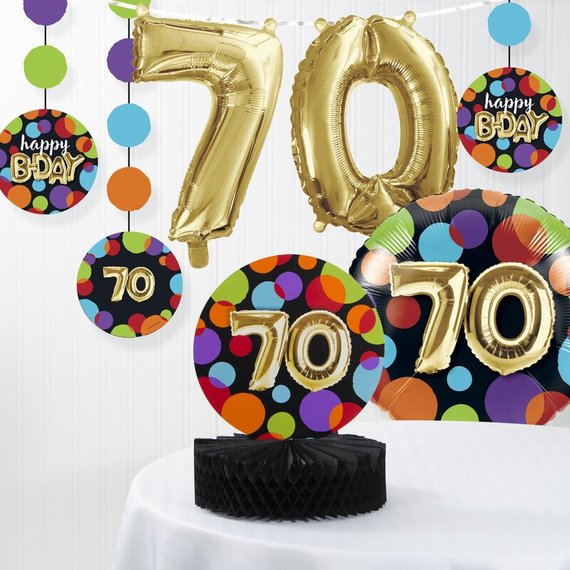 Balloon 70th Birthday Decorations Kit