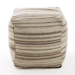 Marble Striped Pouf  Ottoman by Best Home Fashion, Inc.