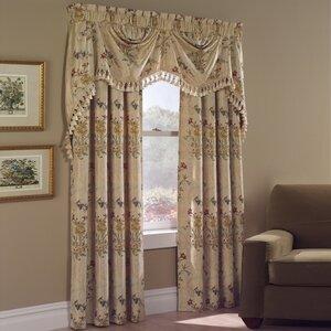 Jewel Nature Rod Pocket Single Curtain Panel