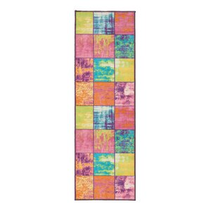 Rocio Boxes Pink/Blue/Yellow Area Rug