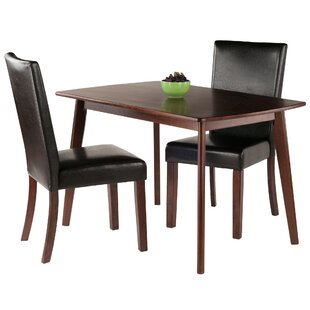 Guynn 3 Piece Solid Wood Dining Set