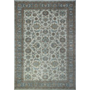 One-of-a-Kind Turner Bahualdin Hand-Knotted Wool Ivory Area Rug
