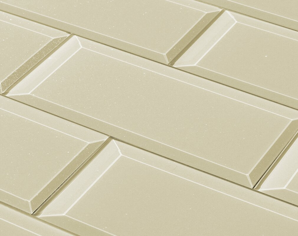 Abolos frosted elegance 3 x 12 glass subway tile in glossy creme frosted elegance 3 x 12 glass subway tile in glossy creme dailygadgetfo Image collections