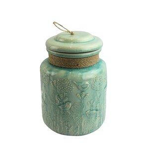 Turquoise Ceramic Jar