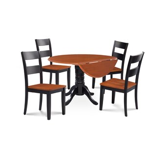 Chesterton 5 Piece Carved Dining Set by Alcott Hill