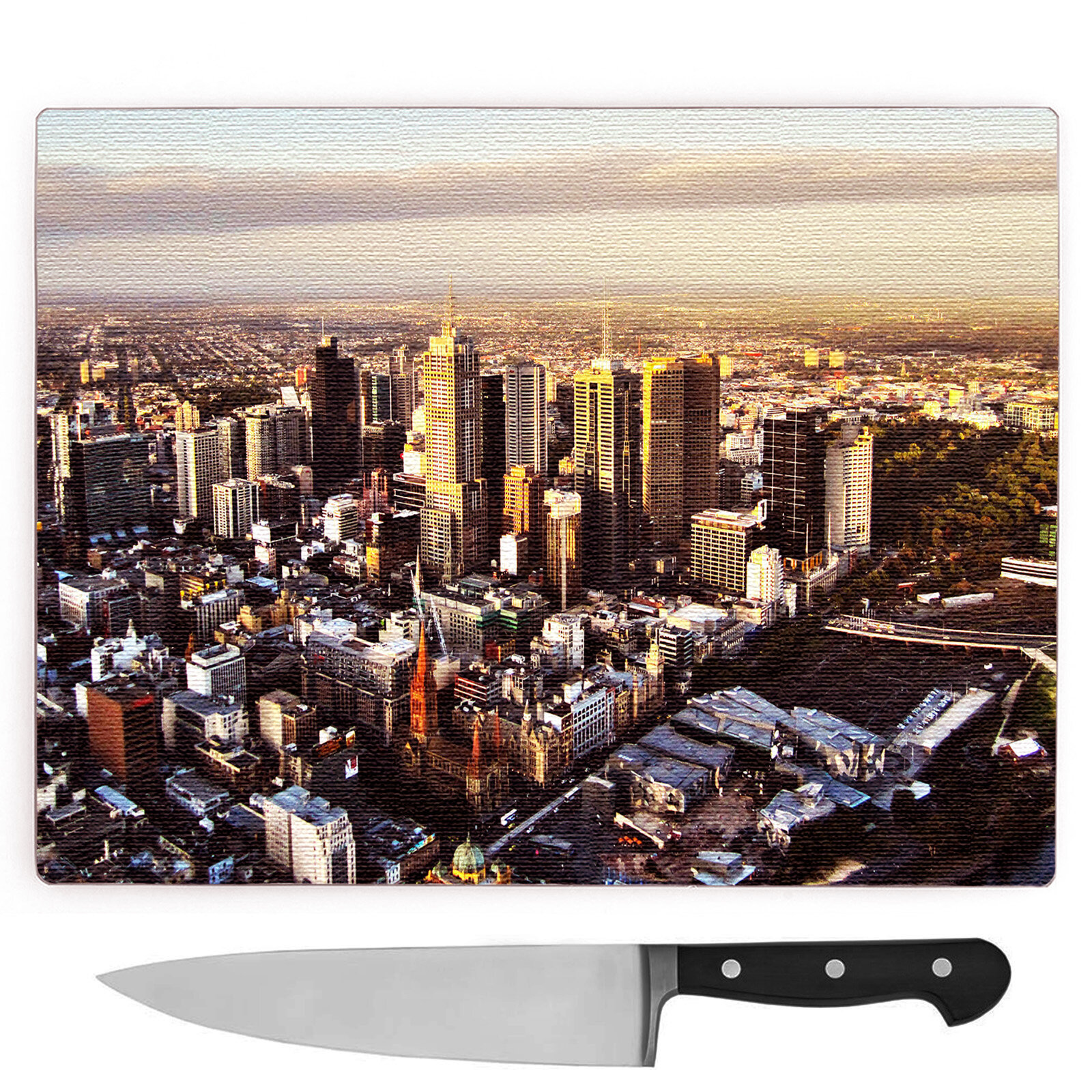 Big Box Art Schneidebrett Melbourne Australien Skyline | Wayfair.de