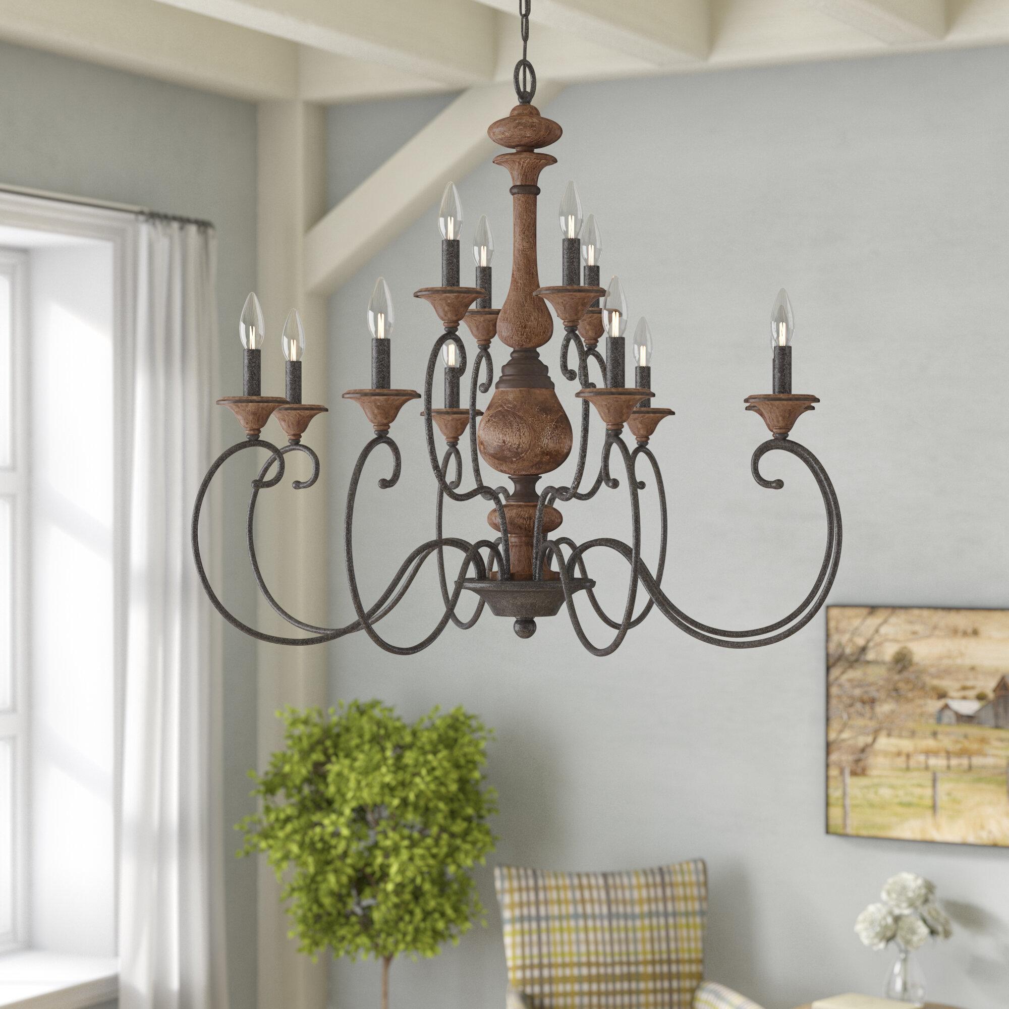 Lark manor turcot 12 light chandelier reviews wayfair