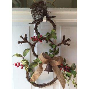 Grapevine Snowman Door Wreath