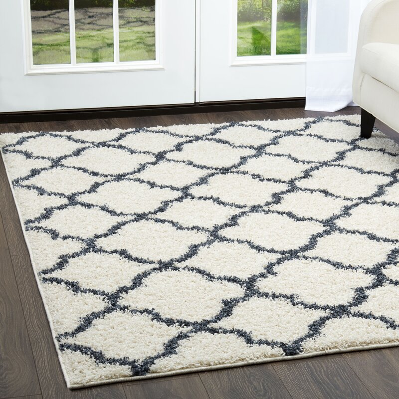 Nicole Miller Synergy Whiteblue Area Rug Reviews Wayfair