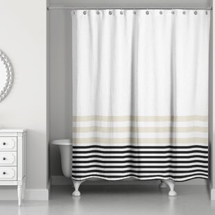 Qu Stripes Single Shower Curtain
