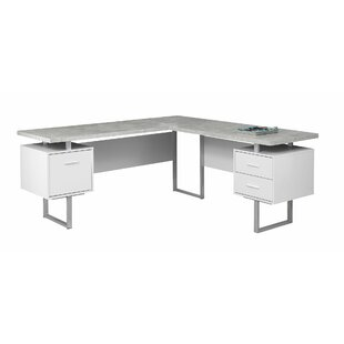 ec96cc870ca Darroll 3 Drawer L-Shape Corner Desk