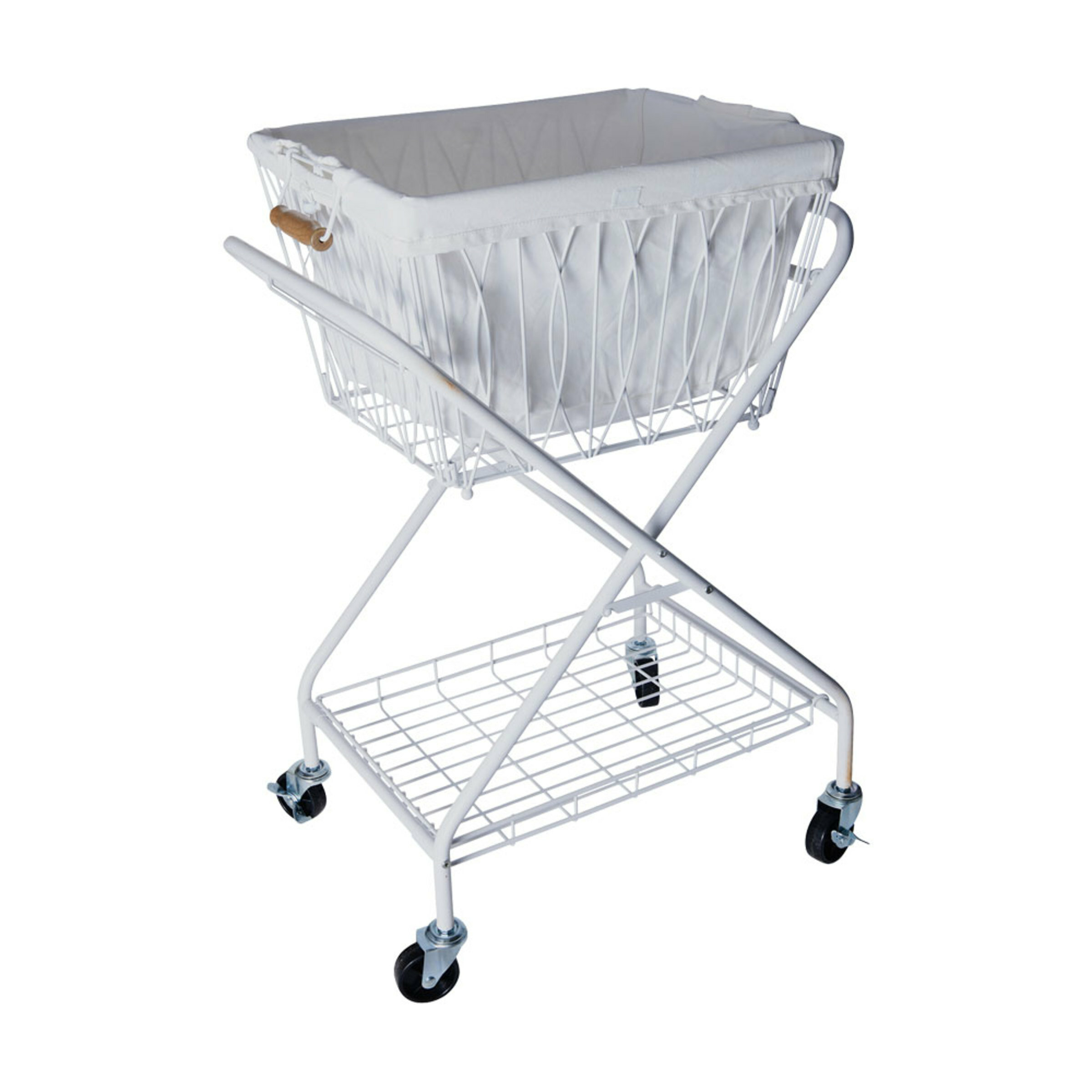 9db8c22be63 Artesa Verona Collapsible Laundry Cart Removable Basket   Canvas Bag ...