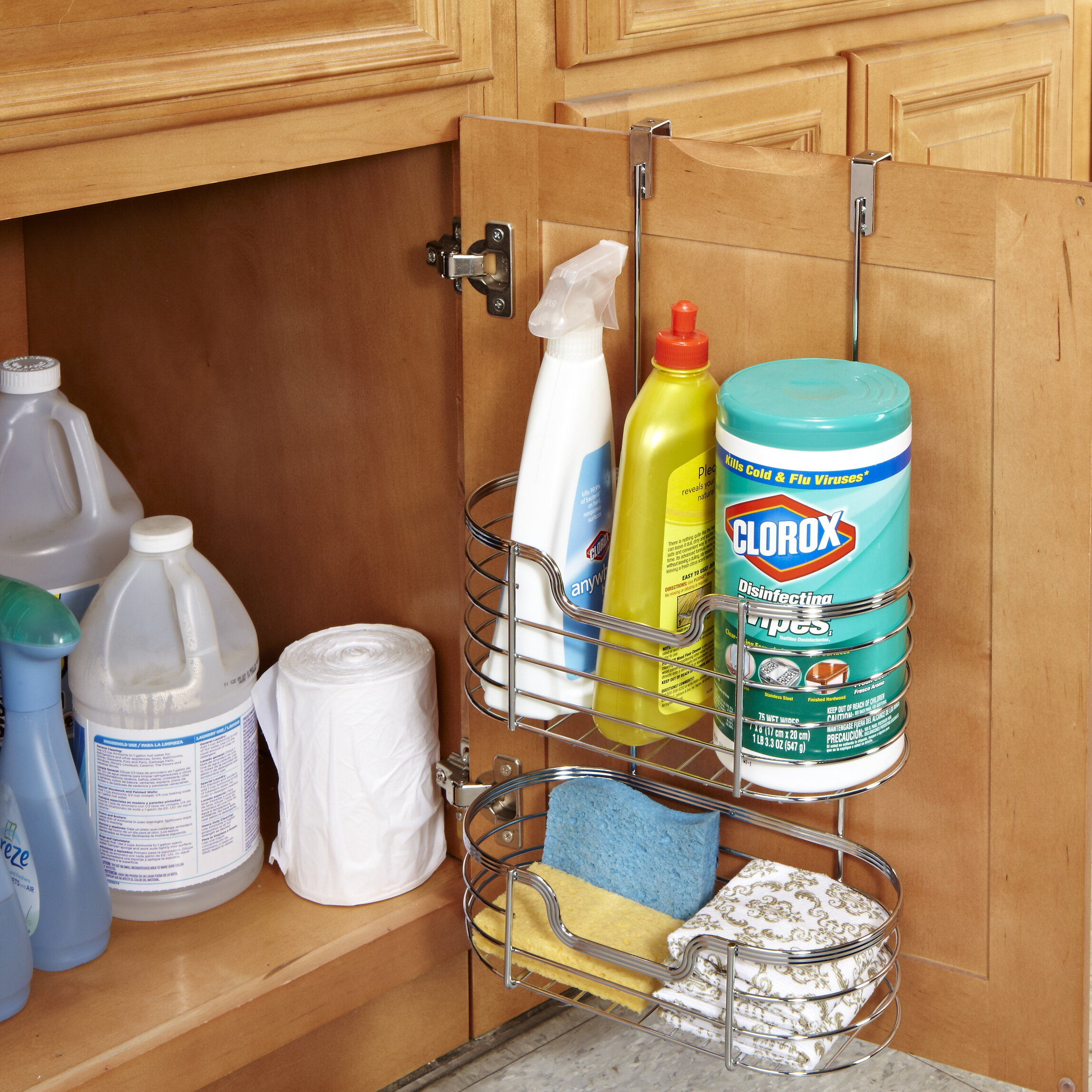 Simplify 2 Tier Over The Cabinet Door Organizer Reviews Wayfair