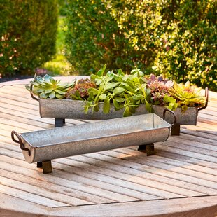 Ong 2 Piece Metal Pot Planter Set