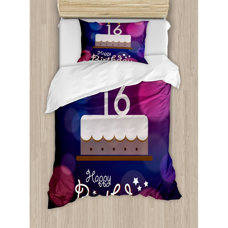 16th Birthday Decorations Duvet Cover Set