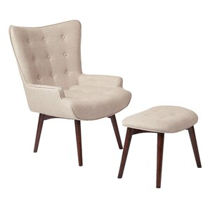 Dalton Lounge Chair and Ottoman by Ave Six
