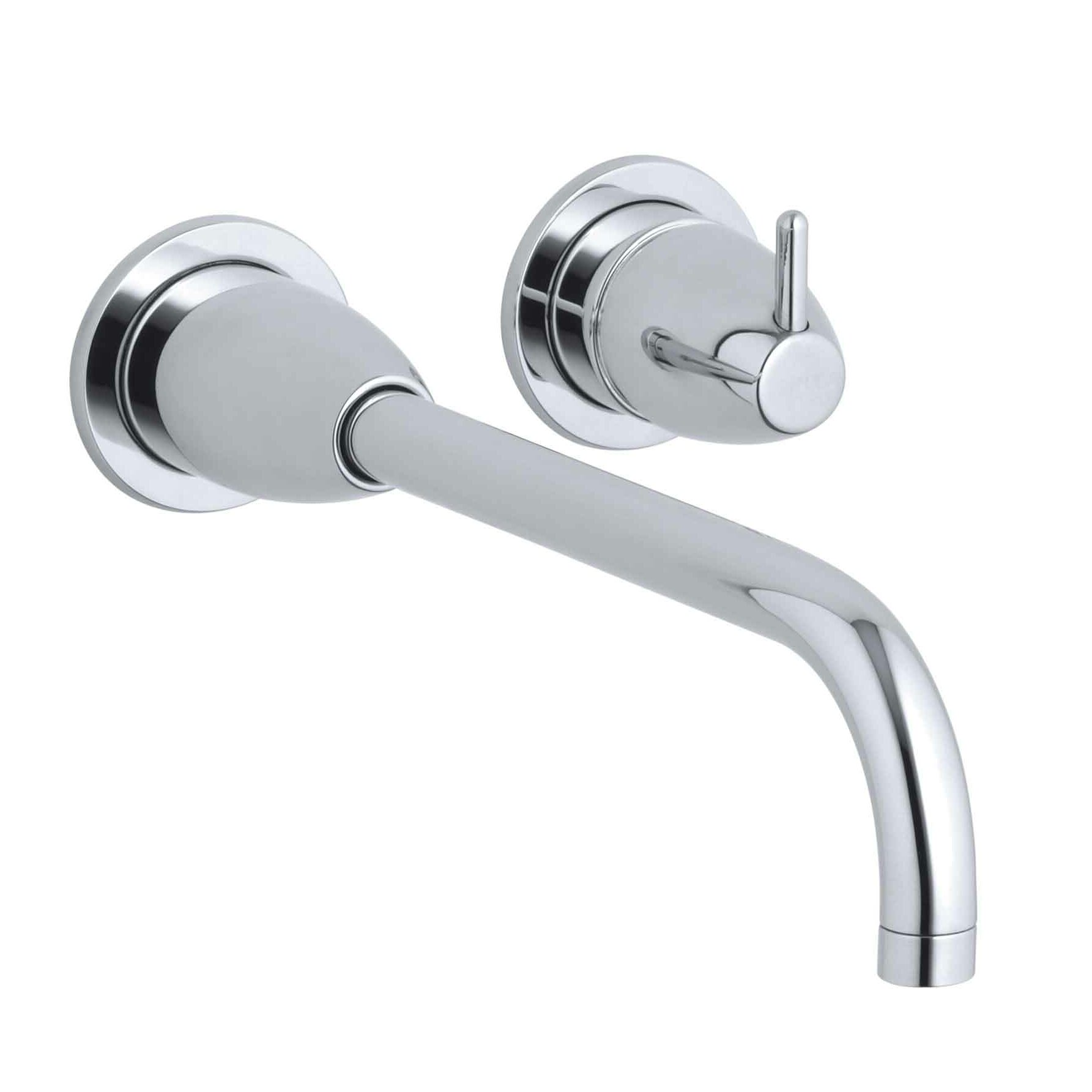Kohler Falling Water Wall-Mount Bathroom Sink Faucet Trim with 10 ...