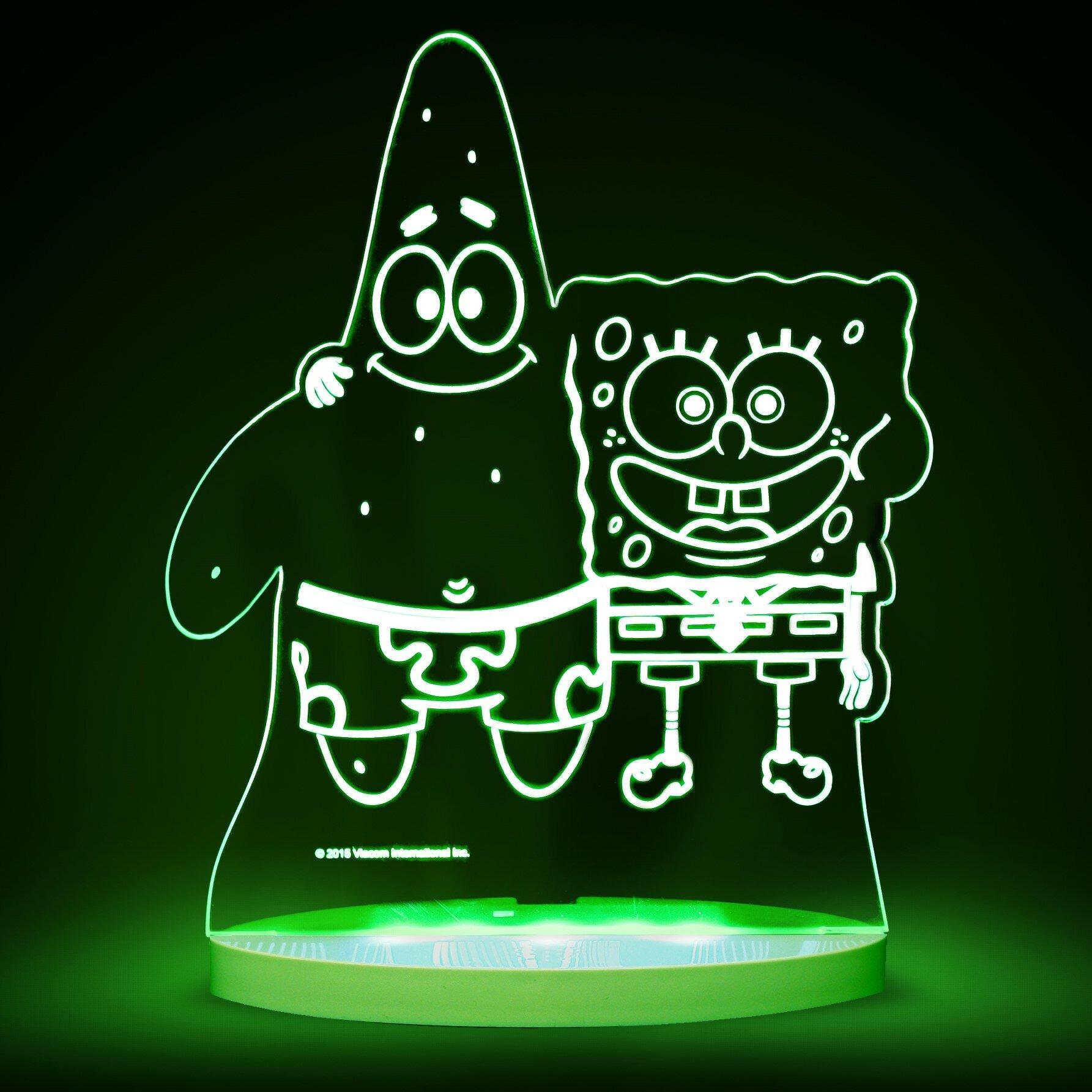 Spongebob squarepants bathroom accessories - Spongebob Squarepants Bathroom Accessories Nickelodeon Spongebob Squarepants And Patrick Led 3 Light Night Light