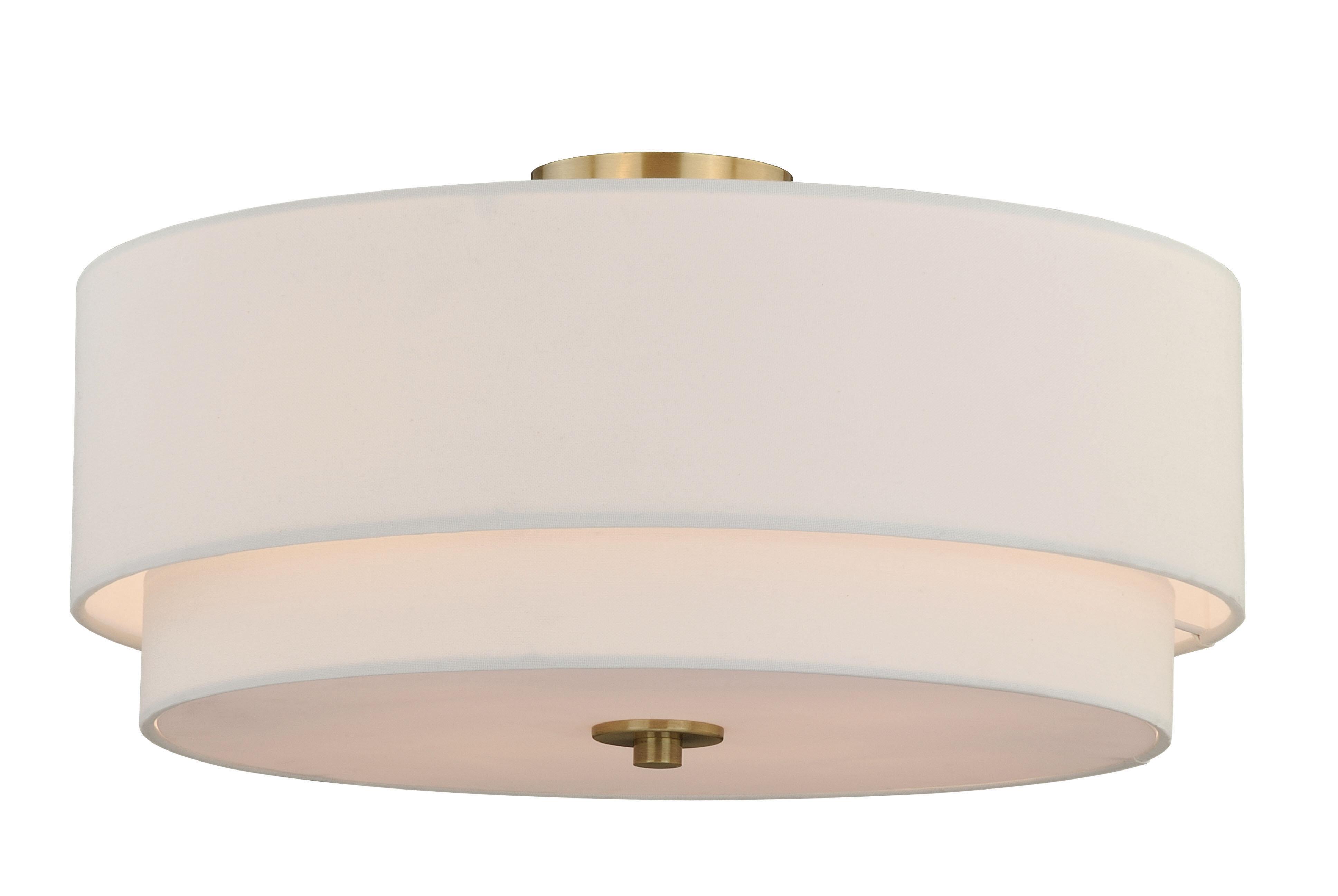 Macdonald 4 light semi flush mount