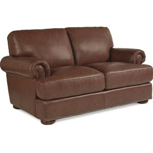 Andrew Leather Loveseat by La-Z-Boy