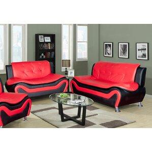 algarve leather 2 piece living room set
