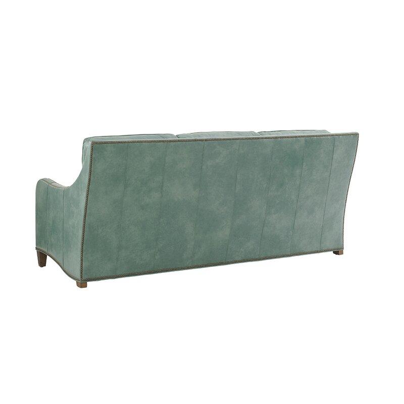 Tommy Bahama Home Twin Palms Leather Sofa | Wayfair