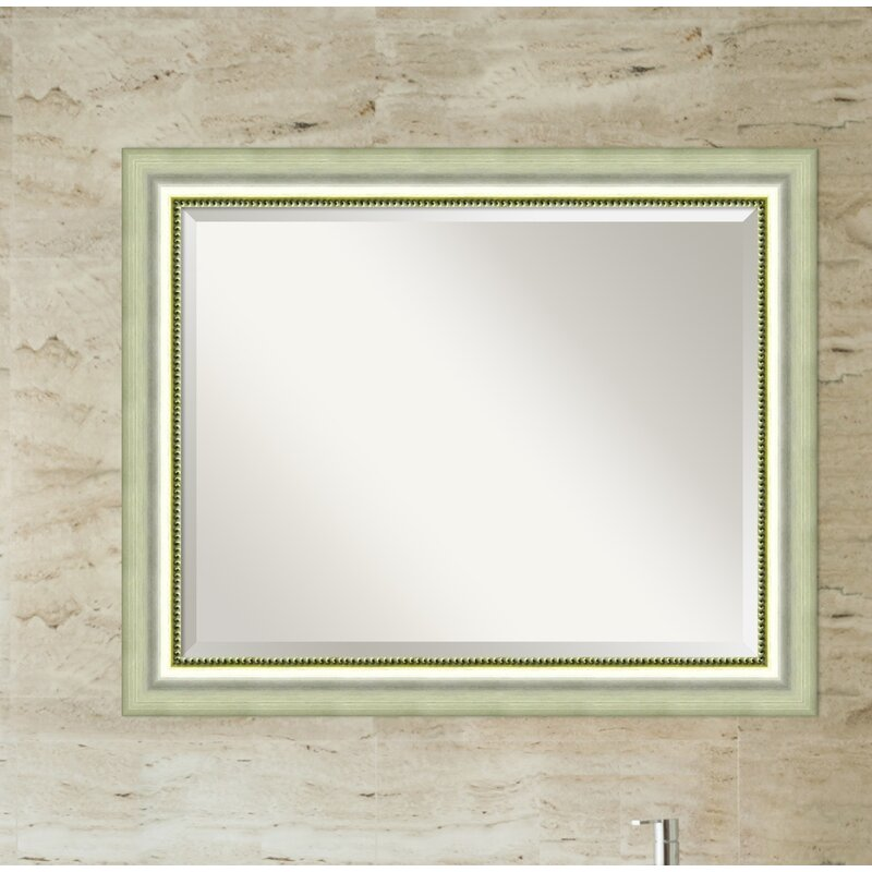 silver bathroom mirror rectangular willa arlo interiors josefien rectangle curved silver 20358 | Josefien Rectangle Curved Silver Bathroom Wall Mirror