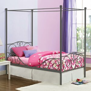 What Is A Canopy Bed kids twin bed set | wayfair
