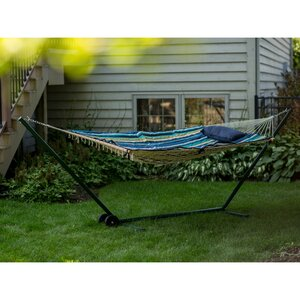 aleisha 4 piece polyester hammock with stand set hammock and stand set   wayfair  rh   wayfair