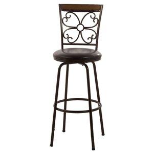 garrison adjustable height swivel bar stool