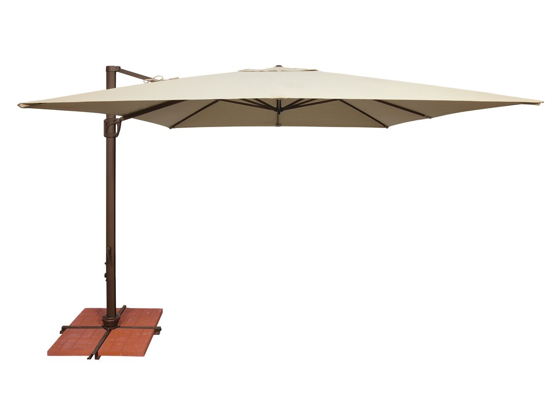 10u0027 Bali Square Cantilever Umbrella