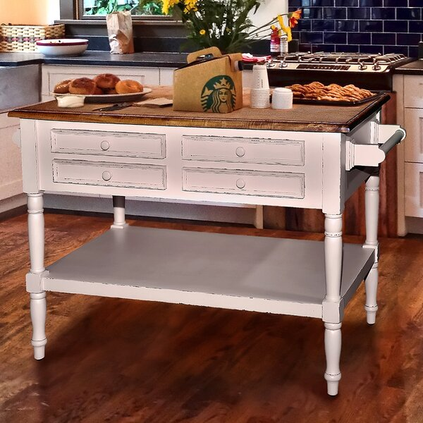 Brookstonval Kitchen Island With Wood Top Amp Reviews